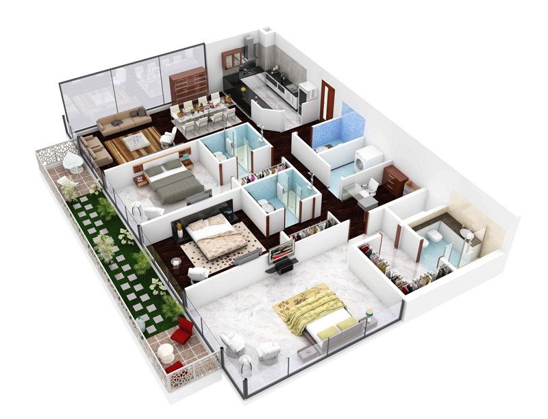 efficient-3-bedroom-floor-plans