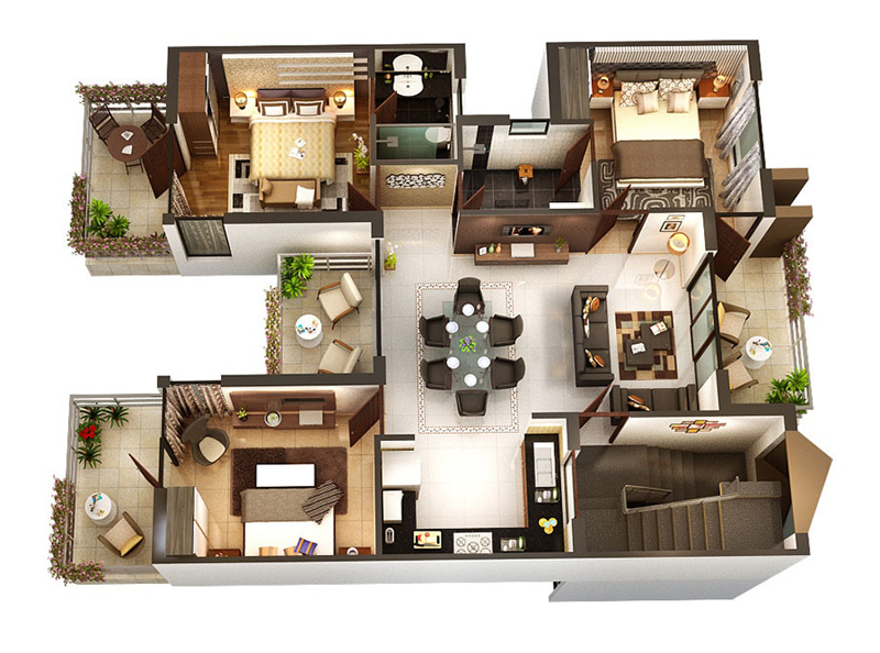 three-bedroom-floor-plans